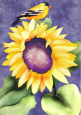 "Tree Free Goldfinces Sunflower Card 5""x7"" #63007"