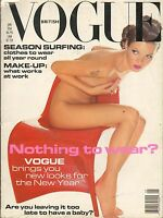 JAN 1992 BRITISH VOGUE vintage fashion magazine