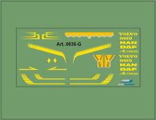 H0/1:87 DIS 0635-G Decalsatz•Universal für Volvo,Iveco,DAF,MAN,Actros, geeignet