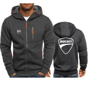 New Ducati Hoodie Men Jacket Full Sweatshirts warm Coat Autumn Team off road