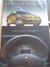 Renault Megane Coupe & Cabriolet range brochure Oct 1999