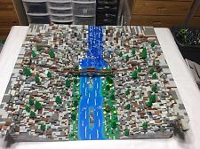 "Lego Custom Canyon River waterfall modular build 33"" x 29"" x 7"" used display MOC"