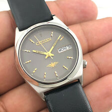 VINTAGE MEN'S CITIZEN 8200 DAY DATE 32MM AUTOMATIC 21-JEWELS WRIST WATCH A9051