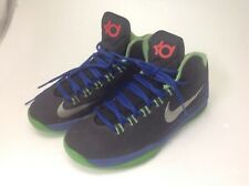 NIKE KD 35 Basketball Shoes sz 6.5 Youth Black Electric Green, blue Kevin Durant