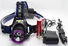 NEW 3000 Lm CREE XM-L XML T6 LED Headlamp Headlight 2X18650 battery +Charger US