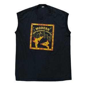 Modern Self-Defense Center Karate Judo Jiu Jitsu Vintage 80s Sleeveless T-Shirt