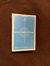 Vintage 1960's Pan Am Airlines Playing Cards Sealed Unopened Deck Still Sealed