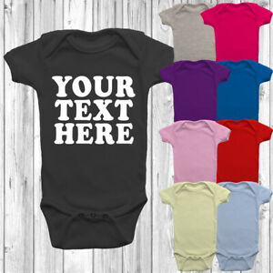 Custom Printed Personalised Baby Grow Vest Front Back Or Both Shower Gift Presen