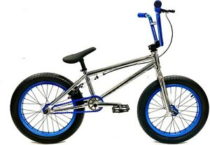 "Elite 18"" BMX Pee Wee Bicycle Freestyle Bike 3 Piece Crank Chrome NEW"