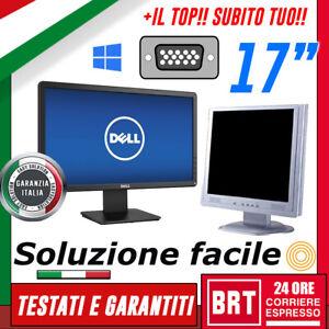 """**PC MONITOR SCHERMO LCD 17"""" POLLICI (DELL,HP) VGA DVI DISPLAY DESKTOP BUONO! 19"""