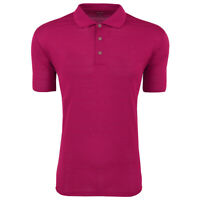adidas Men's Climalite Textured Short Sleeve Polo College Burgundy S