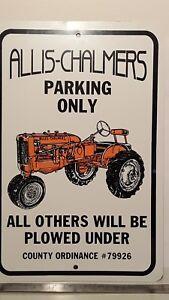 Allis Chalmers parking sign