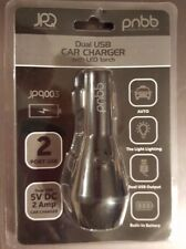 pnbb Dual USB Car Charger with LED Torch Flashlight NIP