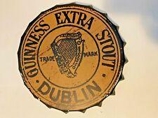 Guinness Gold Bottlecap Metal Sign