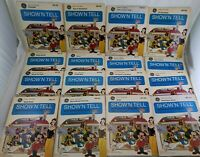 Lot of 16 Vintage Walt Disney Show'N Tell GE Picturesound Records & Film Strips