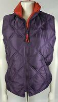 Eddie Bauer - Women's Goose Down Vest jacket - Size medium Full Zip purple