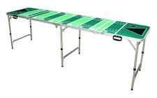 8FT Folding Beer Pong Table Portable Party Drinking w American Football Graphics