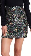 NWOT Tibi Sz 4 S Embroidered Floral Jacquard High Waist Mini Skirt Black