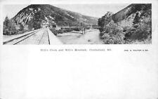 WILL'S CREEK & WILL'S MOUNTAIN RAILROAD CUMBERLAND MARYLAND POSTCARD (c. 1905)