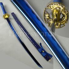 Handmade Special Blue Color High Carbon Steel Japanese Samurai Katana Sword
