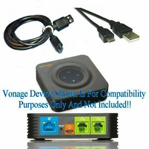 New C2G Power Cable Quality 3FT USB Micro Cable 3A Cord FOR Vonage HT802 Device
