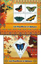 Africain Papillons Insectes Faune Madagascar MNH Jeu de Timbres