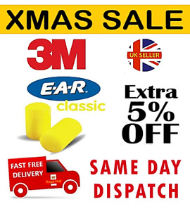 40 x 3M E•A•R Classic Foam Ear Plugs Sleep Aid Factory Sealed 100% Hygienic