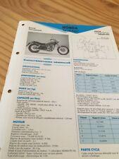 Honda CA125 Rebel 95 / 96 type JC24 CA 125 125CA Fiche technique moto RMT ETAI