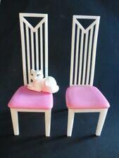 2 x Stuhl Stühle weiß/ pink Barbie Möbel