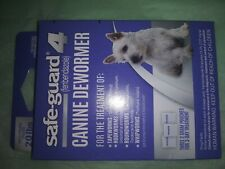 New Safe-Guard 4 Canine Dog Dewormer 3 Two Gram Packets Fenbendazole exp 06/22