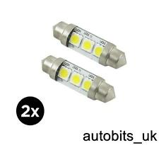 2x 39mm 3 SMD 239 C5W LED WHITE NUMBER PLATE INTERIOR XENON LIGHT FESTOON BULBS