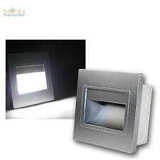Wandeinbaustrahler Silber, COB-LED kaltweiß Wandeinbauleuchte Treppenbeleuchtung