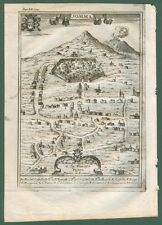 SOMMA, Napoli. Veduta generale. Dall'opera di G.B. Pacichelli, anno 1703.