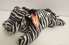 TY BEANIE BABY ZIGGY THE ZEBRA - WITH 8 TUSH & SWING TAG ERRORS - PVC PELLETS