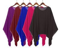 Women Lagenlook Kimono Tops Ladies Chiffon KAFTAN Poncho Tunic Blouse Shirts