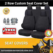 Canvas Car Seat Covers for Nissan Navara D40 2006-2015