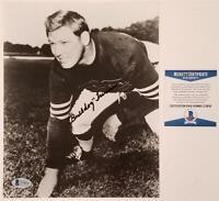 Bulldog Turner signed 8x10 Photo HOF Autograph ~ Beckett BAS COA
