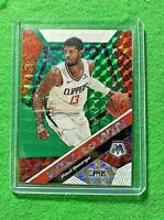 PAUL GEORGE MOSAIC GREEN PRIZM CARD CLIPPERS 2019-20 Panini Mosaic WILL TO WIN