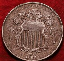 1869 Philadelphia Mint Shield Nickel