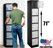 Metal Storage Cabinet Box 6 Lockers For Office Gym Pool Mall
