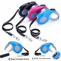 Retractable Dog Lead Extending 3m/ 11.5ft Leash Tape Long Max 15kg PET LEASH
