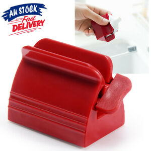 Toothpaste Dispenser Seat Tube Rolling Bathroom Stand Squeezer Holder Easy Press