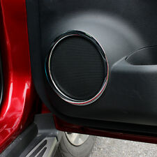 FIT FOR 2014- NISSAN ROGUE X-TRAIL CHROME DOOR STEREO SPEAKER COLLAR TRIM COVER