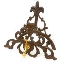 Colgador o soporte para manguera de hierro, modelo epoca con grifo