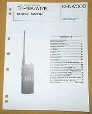 Original Kenwood TH-46A/AT/E 70cm FM Handheld Transceiver SERVICE MANUAL