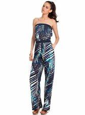 8af0cca1047d  248 Trina Turk Palm Leaf Print Navy Black White Lucila Jumpsuit 2 NEW T307