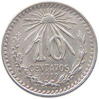 MEXICO 10 CENTAVOS 1919 TOP #t98 059