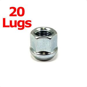 """20x Excalibur 1107 Lug Nuts 12x1.50 Bulge Acorn 3/4"""" Hex Chrome Open End"""