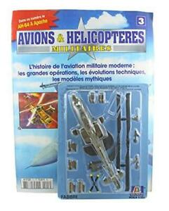 Fabbri Italeri 1:100 Diecast Model AH-64 A Apache Gunship Military Helicopter