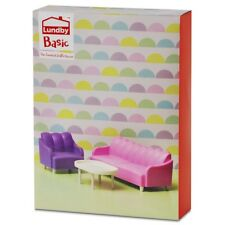 Lundby Basic Smaland 60.3054 Wohnzimmer Set - Sessel Sofa Puppenhaus 1:18